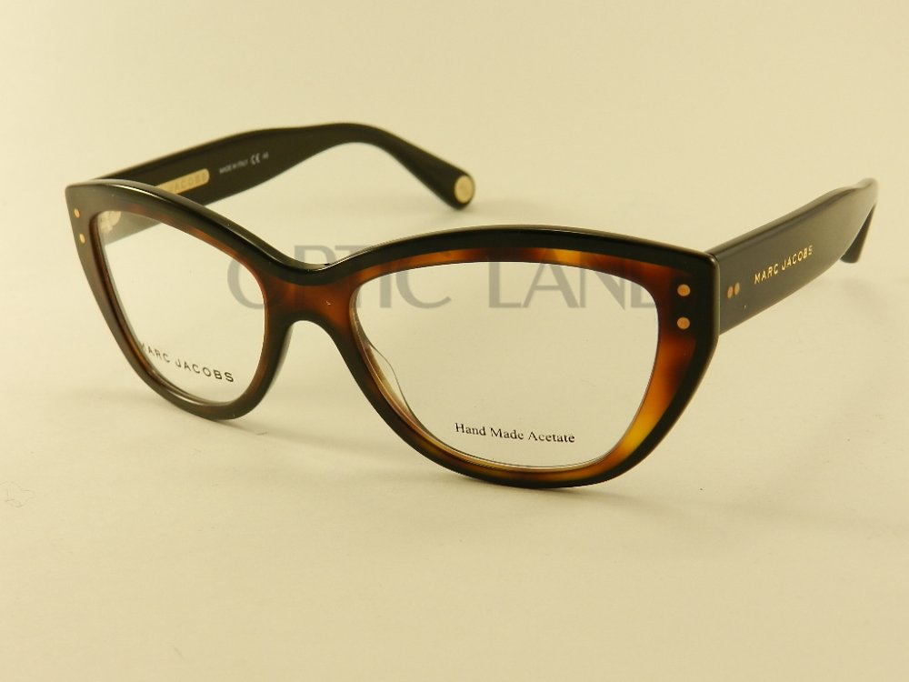 Amazoncom Marc Jacobs Plastic Rectangular Eyeglasses 55